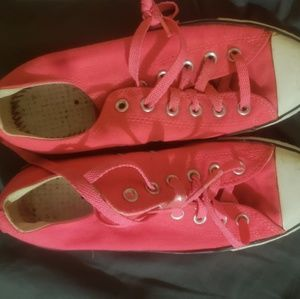 NEON PINK CONVERSE SIZE 10